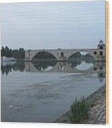 Pont Saint Benezet In The Eveninglight Wood Print