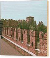 Pont Scaligero Wood Print