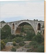 Pont St. Julien And Calavon River  Wood Print