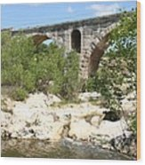 Pont St. Julien And River Wood Print