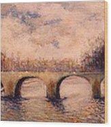Pont Sur La Seine Wood Print
