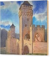 Pont Volontre Cahors France Wood Print