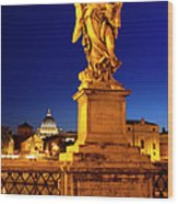 Ponte Sant Angelo Wood Print by Brian Jannsen