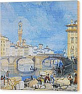 Ponte Santa Trinitia Florence Wood Print