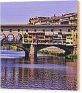 Ponte Vecchio Bridge - Florence Wood Print