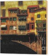 Ponte Vecchio Firenze Wood Print
