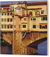 Ponte Vecchio In Florence Wood Print