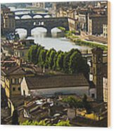 Ponte Vecchio Late Afternoon Wood Print by Jon Berghoff