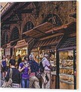 Ponte Vecchio Merchants - Florence Wood Print