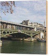 ponte verde a Parigi Wood Print
