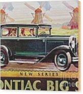 Pontiac Big Six - Poster Wood Print