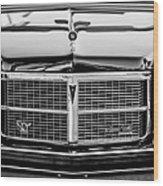 Pontiac Grand Ville Grille -0332bw Wood Print
