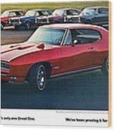 Pontiac Gto - 1964 1965 1966 1967 1968 Wood Print