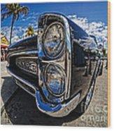 Pontiac Gto Convertible Ft Myers Beach Florida Wood Print by Edward Fielding