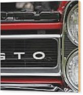 Pontiac Gto Front Wood Print