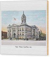 Pontiac Michigan - Ponitiac Court House - 1910 Wood Print