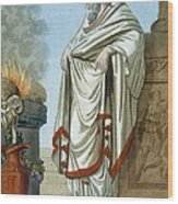 Pontifex Maximus, Illustration Wood Print