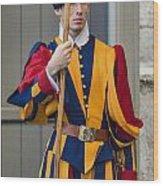 Pontifical Swiss Guard Wood Print