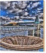 Pontsticill Reservoir Merthyr Tydfil Wood Print by Steve Purnell