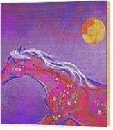 Pony Of Color Wood Print