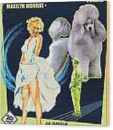 Poodle Art - The Seven Year Itch Movie Poster Wood Print