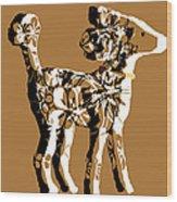 Poodle Print Art Wood Print