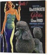 Poodle Standard Art - Gilda Movie Poster Wood Print