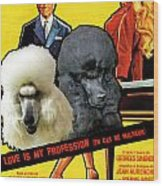 Poodle Standard Art - Love Is My Profession Movie Poster Wood Print