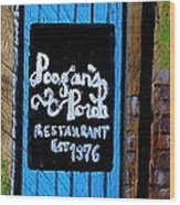 Poogan's Porch Wood Print