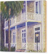 Poogan's Porch Wood Print by Patricia Huff