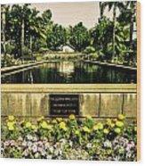 Pool At Nixon Library  Wood Print