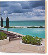 Pool At Rosewood Mayakoba Wood Print