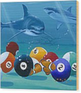 Pool Sharks Wood Print