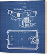 Pool Table Patent From 1892 - Blueprint Wood Print