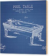 Pool Table Patent From 1901 - Blueprint Wood Print