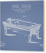 Pool Table Patent From 1901 - Light Blue Wood Print