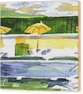 Poolside Wood Print