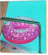 Pool Time Palm Springs Wood Print