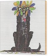 Poor Jack At Mardi Gras Wood Print by Ellen Howell