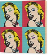 Pop Art Collage  Wood Print
