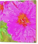 Pop Art Floral Wood Print