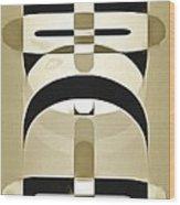Pop Art People Totem 3 Wood Print