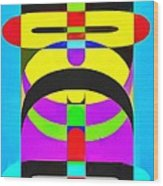 Pop Art People Totem 7 Wood Print