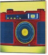 Pop Art Robin Wood Print by Mike McGlothlen