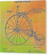 Pop Art Velocipede Patent Wood Print