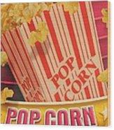 Pop Corn Wood Print