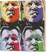 Pop Ditka Wood Print