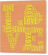 Pop Love 3 Wood Print