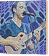 The Dave Matthews Band Op Art Style Wood Print
