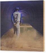 Pop Slide At Third Base Wood Print by Thomas Woolworth
